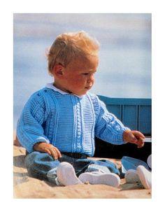 Little Boy Blue - Crochet Vintage Knitting, Vintage Crochet, Crochet Cardigan Pattern, Crochet Patterns, Little Boy Blue, Crochet Baby Clothes, Boy Outfits, 3 Years, Pdf