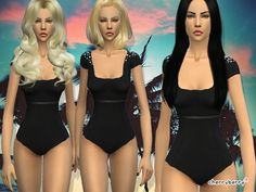 Shade swimsuit by CherryBerrySim at TSR via Sims 4 Updates