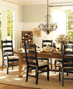 SUSHANT Table and chairs like this, not so modern and formal. Dining Room Decor & Decorating Ideas | Pottery Barn