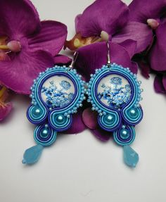 Check out our jewelry selection for the very best in unique or custom, handmade pieces from our shops. Diy Jewelry, Jewelery, Unique Jewelry, Gold Bridal Earrings, Drop Earrings, Soutache Jewelry, Cool Tattoos, Ethnic, Shibori