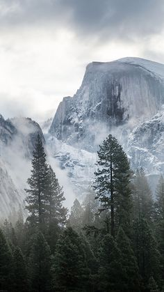 Get Wallpaper: http://goo.gl/1zg9Eh me58-yosemite-snow-mountain-nature via http://iPhone6papers.com - Wallpapers for iPhone6 & plus