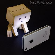 Danbo and iPhone. | Flickr - Photo Sharing!