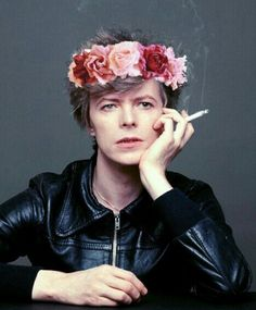 bowie, the crown was clearly shopped on, but i welcome it