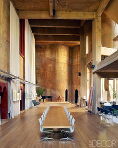 The acclaimed Spanish architect Ricardo Bofill rescues an abandoned cement factory to serve as his home and headquarters. Yes. Barcelona Decor - Ricardo Bofill Architecture - ELLE DECOR