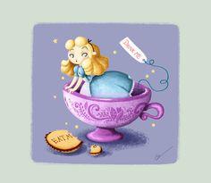 Alice in Wonderland. Disney by RocioGarciaART on DeviantArt