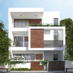 Classic House Exterior, Modern Exterior House Designs, Small House Exteriors, Design Exterior, Facade Design, Minimal House Design, House Outer Design, House Outside Design, House Front Design