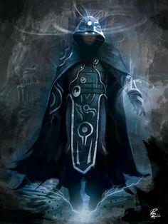 Jace Beleren from Magic the Gathering (©Wizards of the Coast) by shiprock Fantasy Wizard, Fantasy Warrior, Fantasy Rpg, Medieval Fantasy, Fantasy Artwork, Dark Wizard, Dnd Characters, Fantasy Characters, Fantasy Inspiration