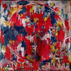 Device Circle ~ 1959 ~ Olieverf op doek ~ 101,5 x 101,5 cm ~ Particuliere verzameling, Meriden ~ © Jasper Johns Foundation