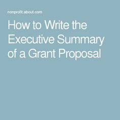 How to write a dissertation executive summary