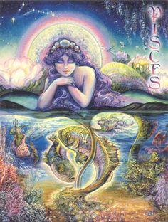 Josephine Wall's Zodiac Series-Pisces