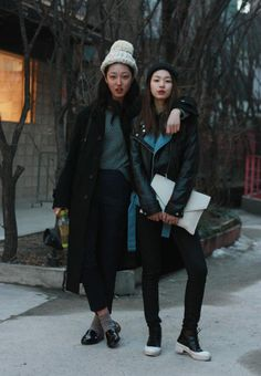 Streetstyle: Park Sunha and Kim jinkyung shot by W.S.C