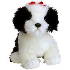 Poofie Retired 2002 Ty Beanie Buddy Shaggy Black and White Dog 9461 for sale online Beanie Bears, Beanie Buddies, Ty Beanie, Ty Stuffed Animals, Purple Teddy Bear, Dogs Online, Black And White Dog, Christmas Dog, Dogs And Puppies