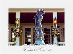 Design by Lana, Fairbanks Florist.net,  courtyard at Lake Lucerne the Dr. Phillips mansion