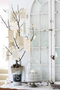 Vintage Prayer Tree! This will be cute at a dedication party!