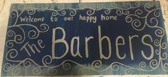 Welcome sign canvas painting