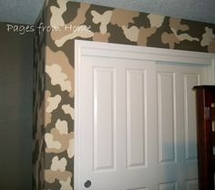 camo walls   ... camo, so I had to add this little feature wall! These were just hand