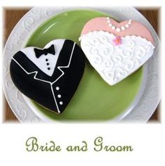 bride groom cookies @Sue Rath on your glass fused plates