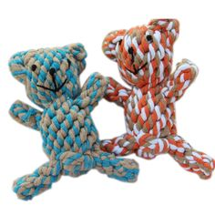 PET BEAR DOG PUPPY DENTAL FLOSS TOUGH ROPE CHEW TOY 2 COLOURS -- Click on the image for additional details. (This is an affiliate link and I receive a commission for the sales)