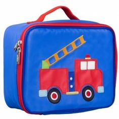 New Embroidered Lunch Boxes Fire Engine