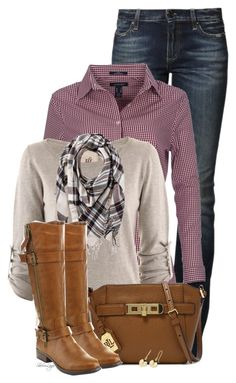 """""""Untitled #2114"""" by sherri-leger ❤ liked on Polyvore featuring True Religion, Lands' End, Friendly Hunting, Ralph Lauren, Pieces and Roberto Coin"""