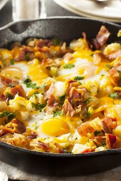 Bacon, Egg, and Potato Breakfast Skillet Recipe
