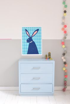 Half-painted walls, love the pink washi tape detail