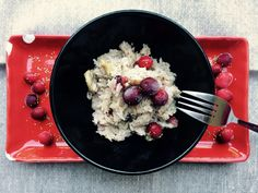 Cranberry and mushroom risotto in bread maker - sourdoughmovement.com Frozen Cranberries, Mushroom Risotto, Grain Foods, Food Challenge, Bread Baking, Holiday Recipes, Entrees, Oatmeal, Grains