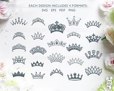 Crown SVG monograms Bundle!! 23 Royal crowns |Tiara Papercut Template | Princess King Silhouette | Cricut, Cameo | cut files | Home Decor For personal and commercial use. The designs can be cut from different materials: paper, regular and heat transfer vinyl, stencil material etc. Just download the files you like and cut them using your cutting machine. You can use the designs for DIY projects, heat transfer designs on t-shirts and bags, create your own gift packaging, decorate notebook…