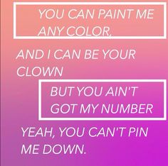 can't pin me down // marina and the diamonds