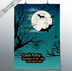 Halloween Poster Templates: 25 Editable Vector Files to Collect Halloween Greetings, Halloween Cards, Halloween Night, Halloween Invitaciones, 31 Party, Halloween Poster, Trunk Or Treat, Vector File, Vector Format