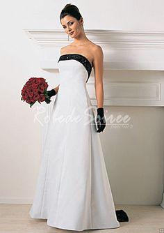 Robe de Mariée Couleur-A-Line/Princess bretelles Cour train satin des robes de mariage
