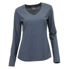 Natural Reflections Essential V-Neck T-Shirt for Ladies - Ombre Blue - 1X