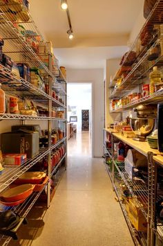 House goals: The Kitchen Larder. From the ultimate walk-in pantry to clever kitchen storage ideas. Kitchen Larder, Kitchen Pantry Storage, Built In Pantry, Pantry Shelving, Kitchen Pantry Design, Kitchen Pantry Cabinets, Walk In Pantry, Kitchen Ideas, Kitchen Decor