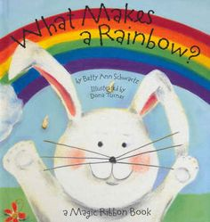 What Makes a Rainbow? This book is a concept book on colors. It is a great book for helping children learn about different colors and how they all come together to form a rainbow! This would be a great learning tool to use in the classroom to teach that it takes various members and components to make something whole, such as a rainbow!