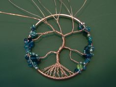 How to make a wire wrapped pendant. Wire Wrapped Tree Of Life Ornament - Step 14