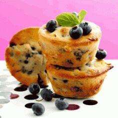 Muffins med bær (fedtfattig) opskrift
