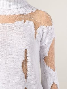 Anne Sofie Madsen Distressed Roll Neck Sweater - H. Lorenzo - Farfetch.com
