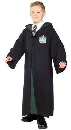 Harry Potter Deluxe Slytherin Robe Child Costume, Large for sale