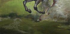 """""""Galopp"""" Acrylic on Canvas 40 cm x 80 cm"""