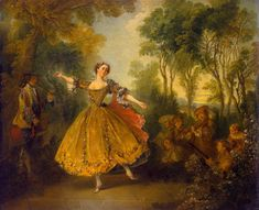 Nicolas Lancret - Marie Camargo (The State Hermitage Museum - St Petersburg (Russian Federation - St. Francisco Goya, Jean Antoine Watteau, European Costumes, Ballet Painting, Fashion Bubbles, Art Ancien, Hermitage Museum, Hermitage Russia, French Art