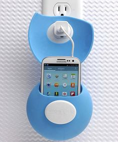 Charge phones from any wall outlet - use as a cord case when not charging. Loving this Blue Teleport Charging Station on #zulily! #zulilyfinds