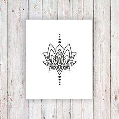 Small lotus temporary tattoo - Tattoorary