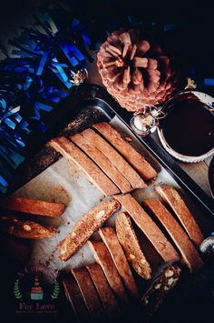 Chocolate Dipped Chocolate and AlmondBiscotti