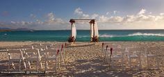 simple altar on beach at cap juluca anguilla british west indies #GOWSRedesign