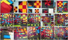 Barn Quilts – A Closer Look – Fractured Barn Quilts | Persimon Dreams   Project QULITING - Season 3, Challenge 4:  http://www.persimondreams.com/2012/02/project-quilting-season-3-challenge-4-barn-quilts.html