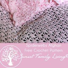 Spiderwebs Afghan | Free Crochet Pattern | Lace Crochet Pattern