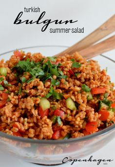 Turkish bulgur Summer salad (kisir) - super tasty and easy side salad for your Summer barbecue!  #bbq #summer #salad