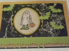 Ghost is from a set that is retired and I have a few sets left. copic markers used. Comes in a set or sold separately made by Art Impressions Rubber Stamps, All items can be purchased in my ebay Store Pat's Rubber Stamps & Scrapbooks or call me 423-357-4334and place an order, or come by 1327 Glenmar Ave. Mt Carmel, TN 37645, Pat's Rubber Stamps & Scrapbook supplies 423-357-4334. We take PayPal & We take phone orders. You get free shipping with the phone orders.