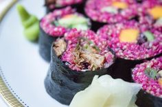 Think pink: veganes Quinoa-Sushi!
