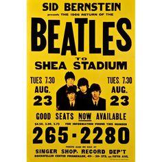 The Beatles - Shea Stadium 1966 Medium Canvas Art